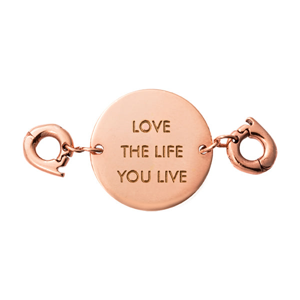 Love The Life Rose Gold Plated Two Lock Tag