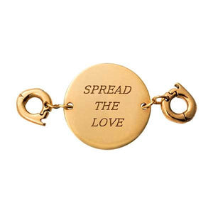 Spread The Love Gold Plate Two Lock Tag