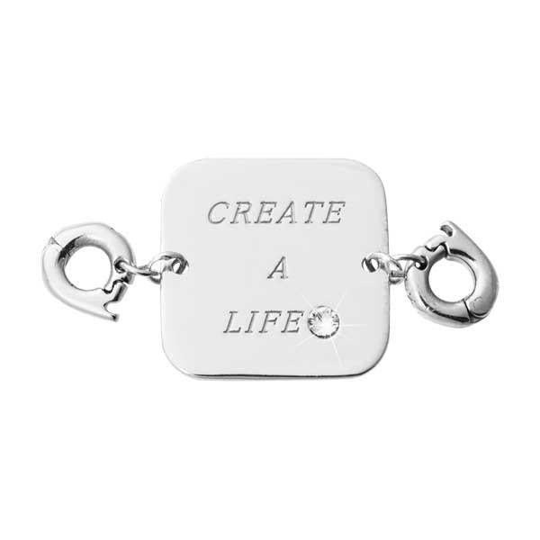 Create A Life Silver Plate Two Lock Tag