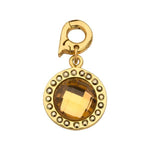 Chic Bronze Glass Gold Plated 15mm Charm