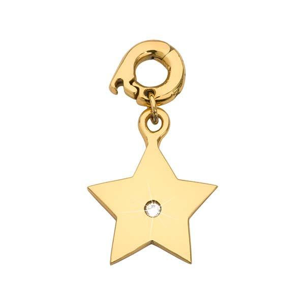 A Star Is Born Gold Plate 15mm Charm