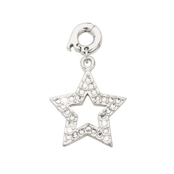 Rock Star Silver Plate 20mm Charm