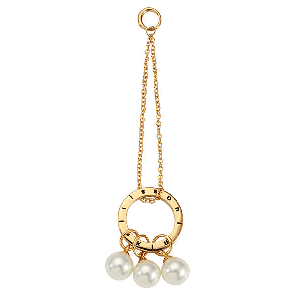 Nikki Lissoni Pearl Club Gold Plated 70mm Charm