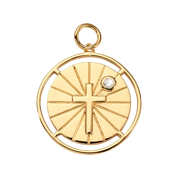 Nikki Lissoni Have Faith Gold Plated 32mm Charm