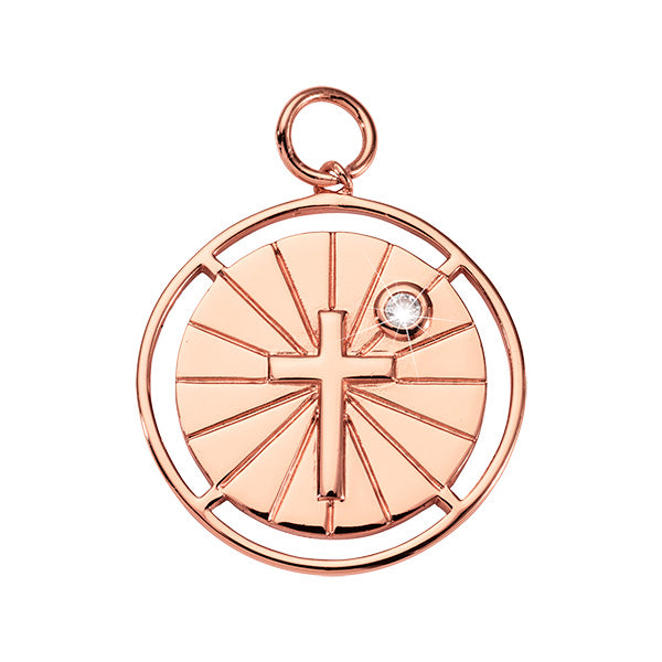 Nikki Lissoni Have Faith Rose Gold Plated 32mm Charm