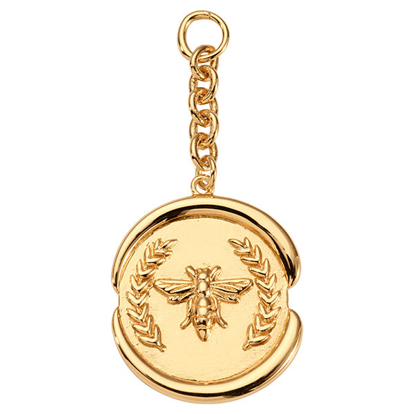 Nikki Lissoni Wax Bee Gold Plated 50mm Charm