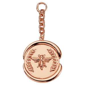 Nikki Lissoni Wax Bee Rose Gold Plated 50mm Charm