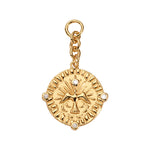 Vintage Bird Gold Plated 38mm Charm