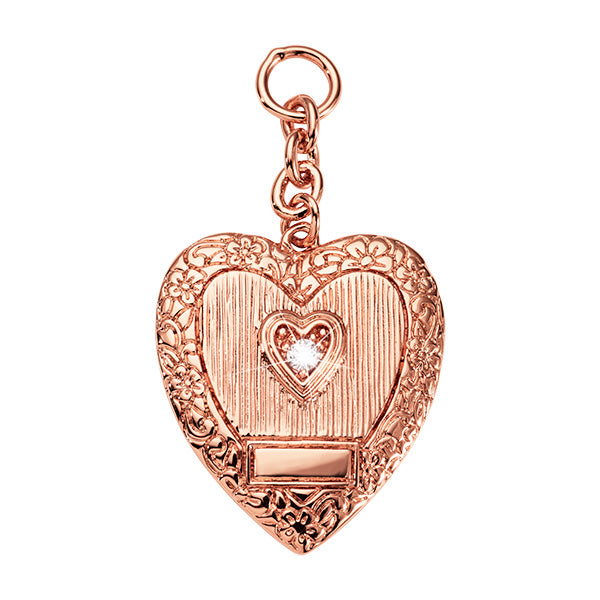 Nikki Lissoni Vintage Heart Rose Gold Plated 41mm Charm