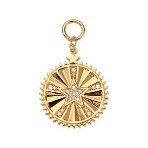 Nikki Lissoni Crystal Star Gold Plated 32mm Charm