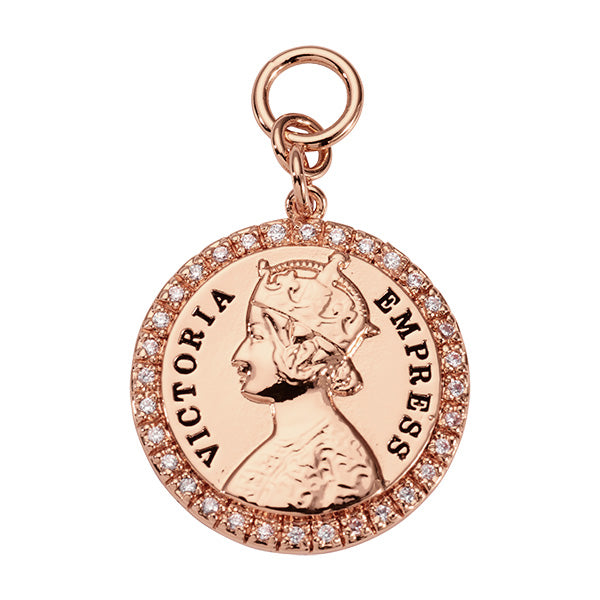 Nikki Lissoni Victoria Empress Rose Gold Plated 31mm Charm