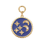 Nikki Lissoni Blue Night Gold Plated 30mm Charm