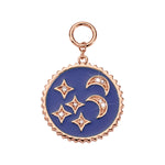 Nikki Lissoni Blue Night Rose Gold Plated 30mm Charm