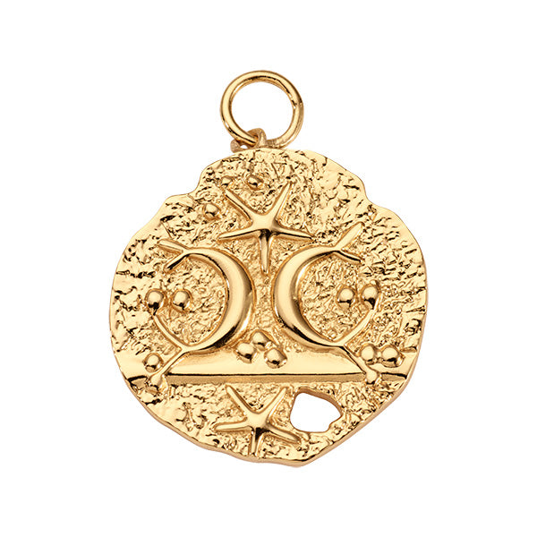 Antique Soul Gold Plated 32mm Charm