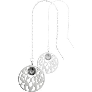 Nikki Lissoni - Vintage Flower Silver Plate Thread Earring