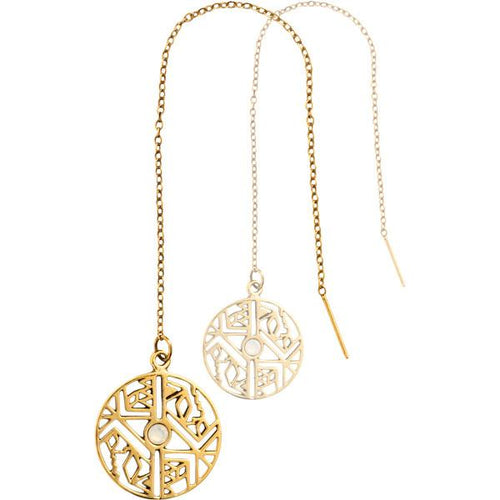 Nikki Lissoni - Wild And Free Gold Plate Thread Earring