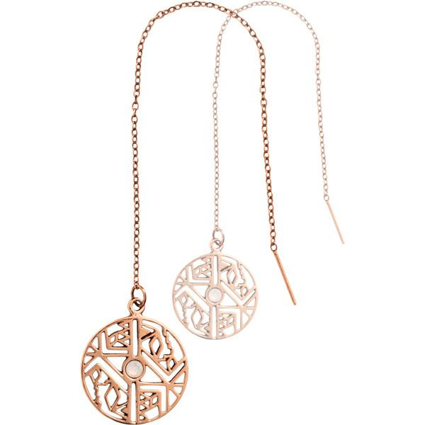 Nikki Lissoni - Wild And Free Rose Gold Plate Thread Earring