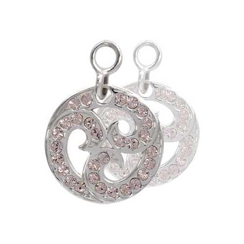 Sparkling Curls Silver Plate 14mm Earring