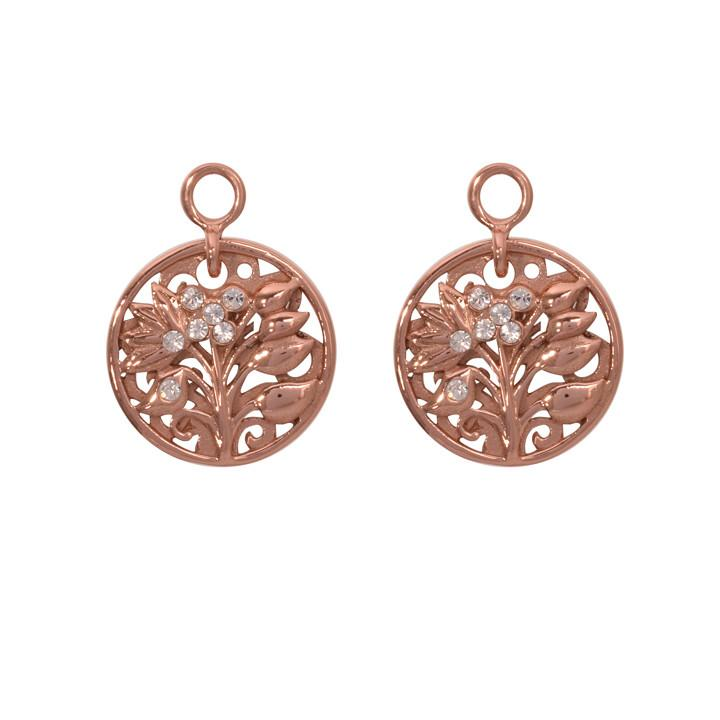 Fantasy Tree Rose Gold Plate 14mm Earring