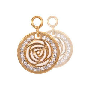 Vintage Rose Gold Plate 14mm Earring