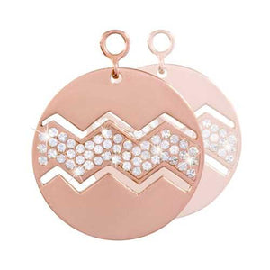 Sparkling Waves Rose Gold Plate 24mm Earring