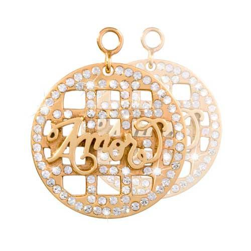 Amor Gold Plated 24mm Earrings