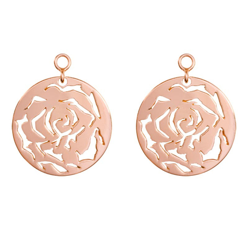 Rose Rosé G/P 24mm Earring