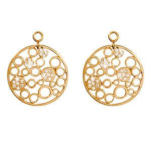 Nikki Lissoni - Snowballs Winter Gold Plate 24mm Earring