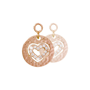 Small Heart Rose Gold Plate 14mm Earring