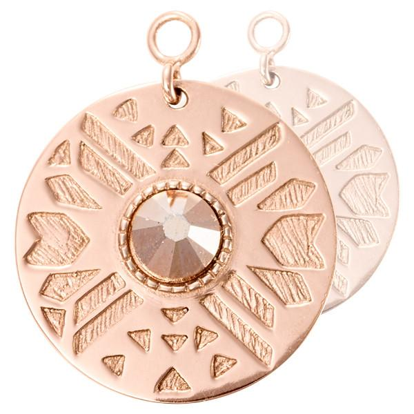 Nikki Lissoni - Wild Sparkling Rose Gold Plate 25mm Earring