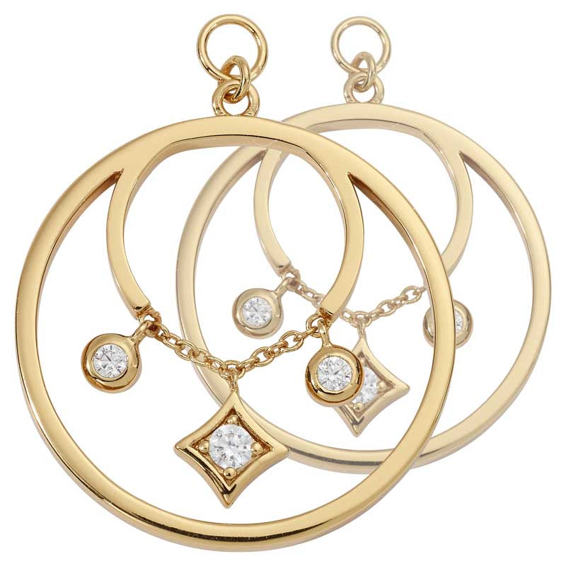 Elegance G/P 23mm Earring