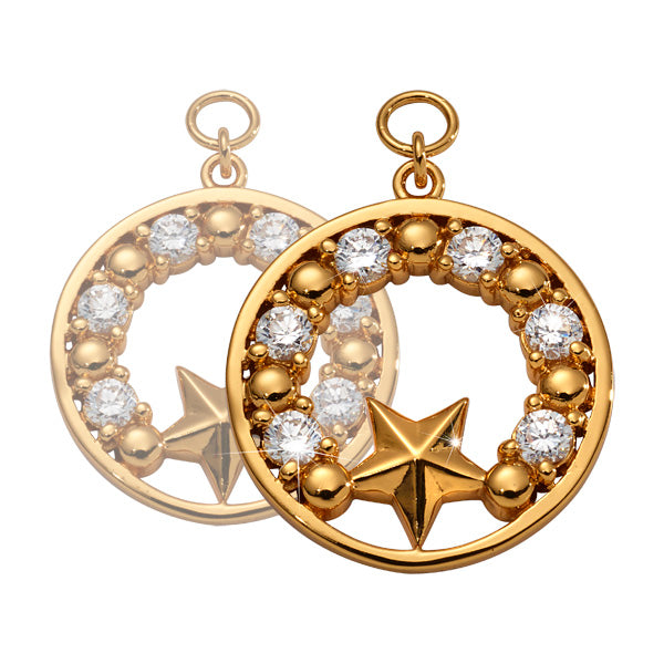 Midsummer Star Gold Plated 19mm Earrings