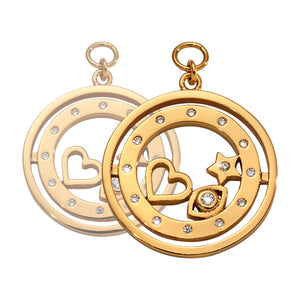 Nikki Lissoni - Best Kept Secret Gold Plated 19mm Earring