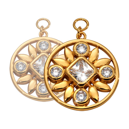 Nikki Lissoni - Victorian Beauty Gold Plated 19mm Earring