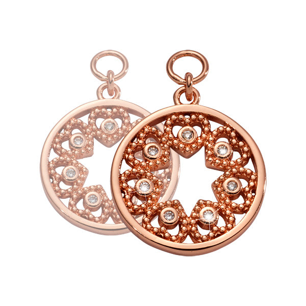 Counting Stars Rosé Gold Plated 15mm Earring
