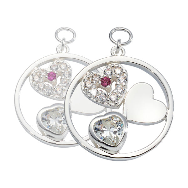 My Love Is Pure Silver Plated 19mm Earring
