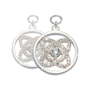 Nikki Lissoni - Eastern Lace Silver Plated 15mm Earring