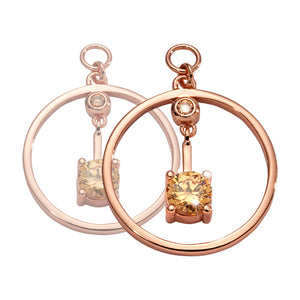 Nikki Lissoni - Peace Of Heart Rosé Gold Plated 19mm Earring