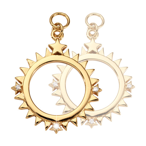 Nikki Lissoni Wanderlust Star Gold Plated 19mm Earrings