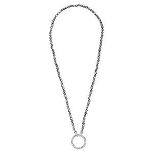Silver Pyrite Necklet Gold Plated 80cm