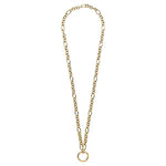 Figaro O-Ring Necklet Gold Plated 68cm