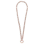 Figaro O-Ring Necklet Rose Gold Plated 68cm