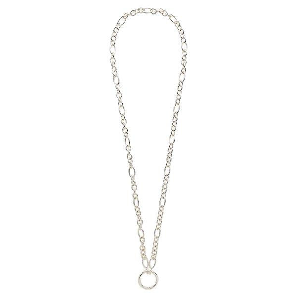 Figaro O-Ring Necklet Silver Plated 68cm