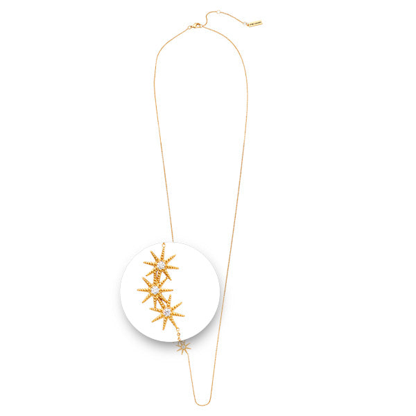 Collected Stars Necklet Gold Plated 70cm