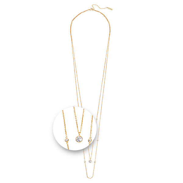 Layered Necklet Gold Plated