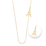 Paris Gold Plated Necklet 80cm