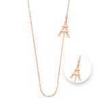 Nikki Lissoni Paris Rose Gold Plated Necklet 80cm