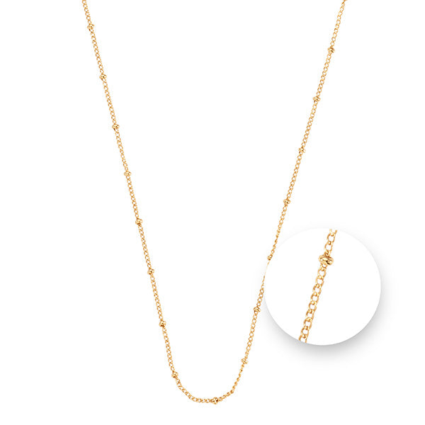 Ball Gold Plated  Necklet 45cm