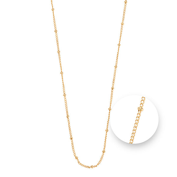 Ball Gold Plated  Necklet 75cm
