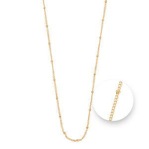 Nikki Lissoni Ball Gold Plated  Necklet 75cm